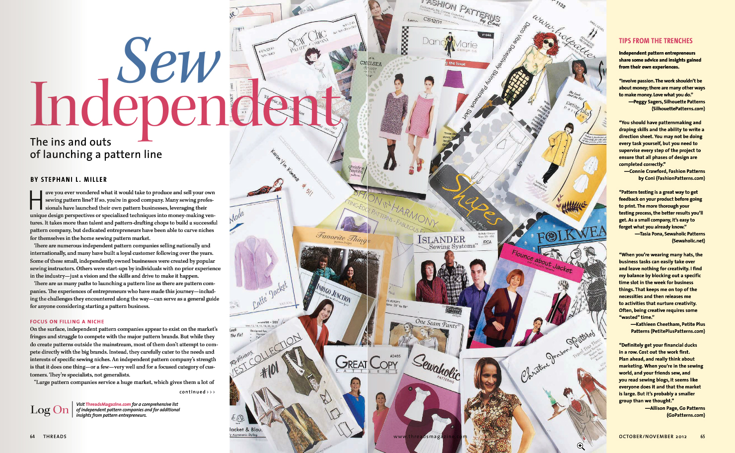 Independent Pattern Company Article