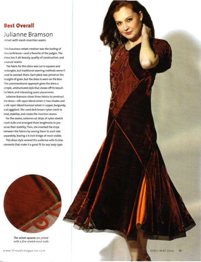 Julianne Threads Challenge Dress 2009